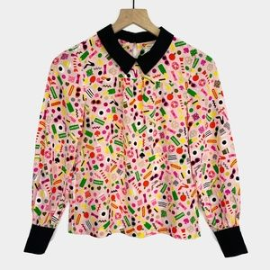 Kate Spade Ksny X Darcel NYC Shelley Silk Blouse
